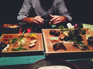 Parte de la cena en Kanga-An