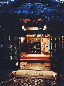 Restaurante dentro del templo Kanga -An