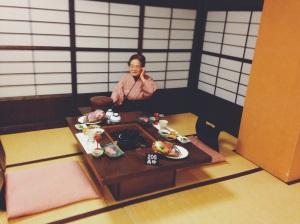 Cena tradicional en Kimono