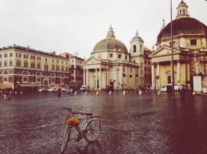 Roma bici & lluvia