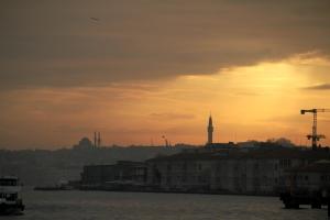 Puesta de sol en el Bosforo